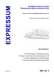 Expressum, 2001, Nr. 5 - Universitätsbibliothek Freiburg