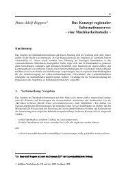 Hans-Adolf Ruppert 1 Das Konzept regionaler Informationsserver ...