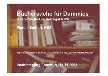 Büchersuche für Dummies