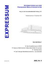 Nr. 6 - Freiburger Fachportale