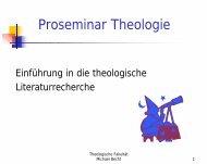 Proseminar Theologie
