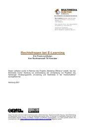 Rechtsfragen bei E-Learning : ein Praxis-Leitfaden