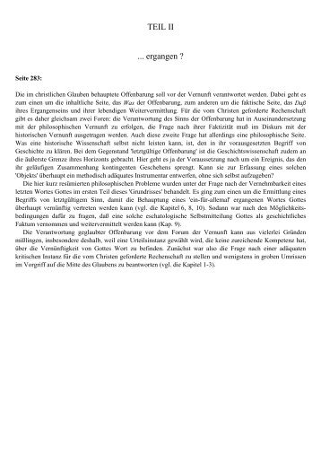 11. Offenbarungsbegriff und philosophische Vernunft