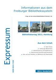 Sonderheft - Service & Hilfe - Albert-Ludwigs-Universität Freiburg