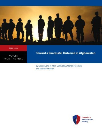 Toward a Successful Outcome in Afghanistan