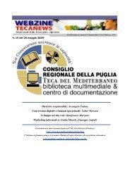 Tecanews - Biblioteca del Consiglio Regionale della Puglia