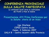 CONFERENZA PROVINCIALE SULLA SALUTE ... - CIPES Piemonte