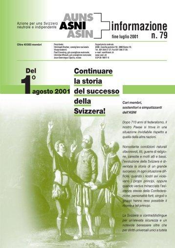 Bollettino d'informazione luglio 2001 (n°79) - ASNI
