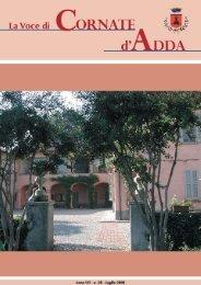 Numero Luglio 2006 - Comune di Cornate d'Adda