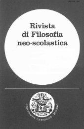 La filosofia di - Dipartimenti - Università Cattolica del Sacro Cuore