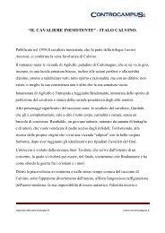 """""""il cavaliere inesistente"""" - italo calvino. - Appunti - Controcampus"""