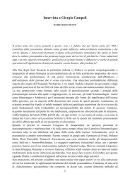 Intervista a Giorgio Campoli - Psiche