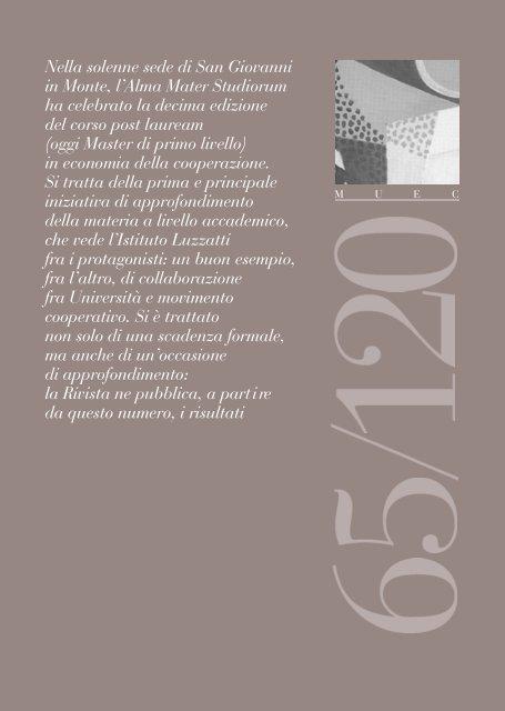 M U E C - Istituto italiano di studi cooperativi Luigi Luzzatti