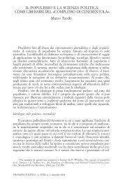 IL POPULISMO E LA SCIENZA POLITICA: COME ... - Rivisteweb