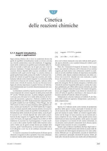 Cinetica delle reazioni chimiche - Treccani
