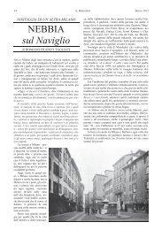 NEBBIA sul Naviglio - Romano Franco Tagliati