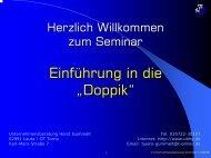 """Einführung in die """"Doppik"""" - Unternehmensberatung Horst Gummelt"""