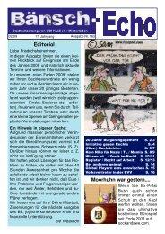 Editorial Moorhuhn war gestern.... - UBI KLiZ e. V. / Mieterladen