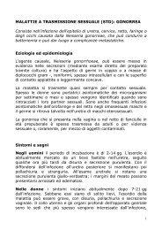 MALATTIE A TRASMISSIONE SESSUALE - Microbiologiatorvergata.It