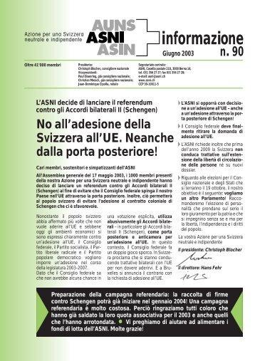 Bollettino d'informazione giugno 2003 (n°90) - ASNI