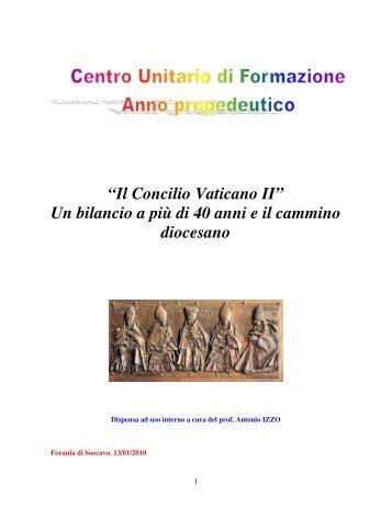 Ricezione del Concilio Vaticano II dispensa[1] - antonio izzo
