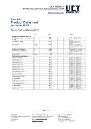 Product Datasheet - UCY ENERGY.