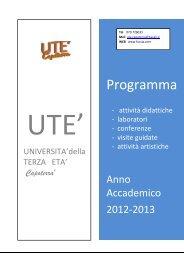 Calendario corsi 2012-2013