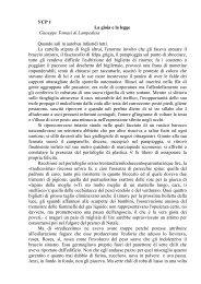 УСР 1 La gioia e la legge Giuseppe Tomasi di Lampedusa Quando ...