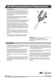LSP 05X Potenziometrischer Füllstandsmesser - Baumer