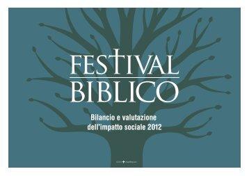 cliccare qui. - Festival Biblico