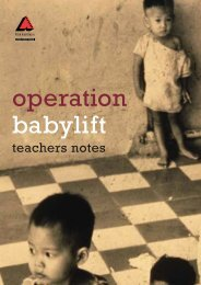 Operation Babylift Teachers Notes