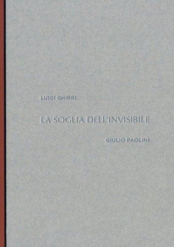 LA SOGLIA DELL'INVISIBILE - Galleria Repetto