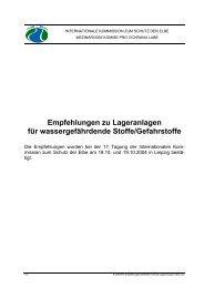Empfehlungen zu Lageranlagen für wassergefährdende Stoffe ...
