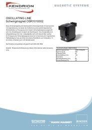 OSCILLATING LINE Schwingmagnet OSR1010002 - Kendrion