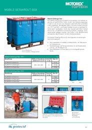 Mobile Gefahrgut-Boxen / Sammelbehälter - Motorex