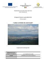 Scheda progetto coop. infraregionale - Gal della sila