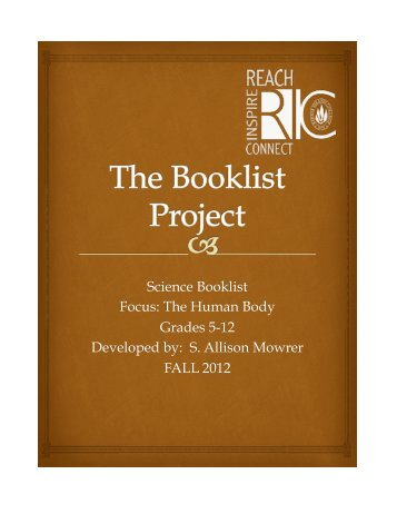 Themed Science Topic Booklist on the Human Body by S ... - RITELL