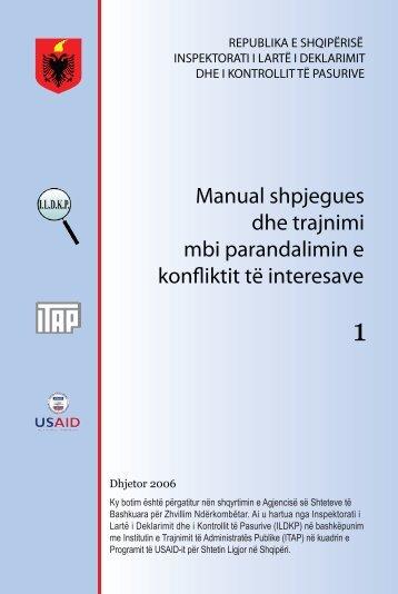 manual shpjegues dhe trajnimi mbi parandalimin e konfliktit ... - ILDKP