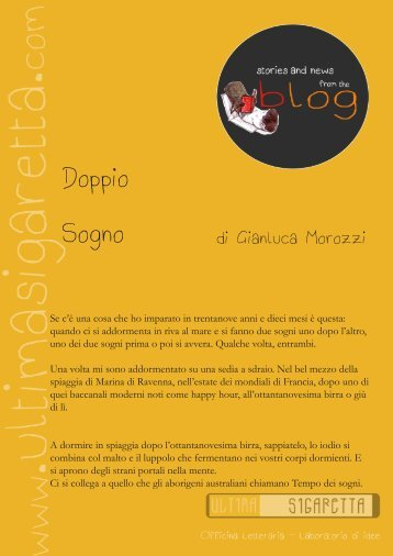 scarica il racconto in formato .pdf - Ultima Sigaretta, Officina Letteraria