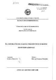 il contratto di leasing: prospettive europee ed internazionali - ThesiS ...