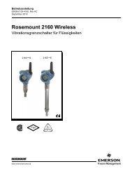 Rosemount 2160 Wireless - Emerson Process Management