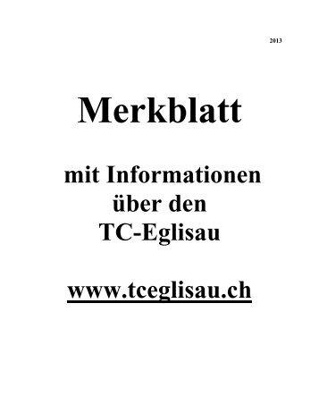 Merkblatt - TC Eglisau