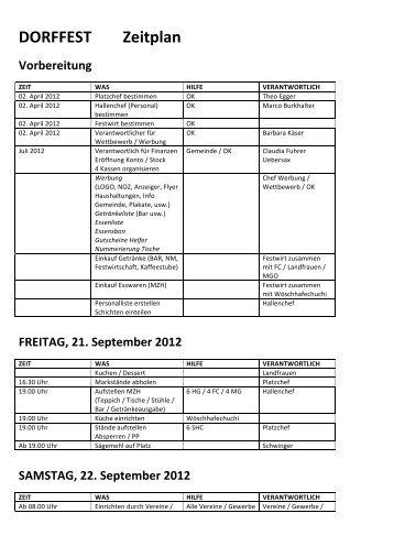 DORFFEST Zeitplan - FC Steckholz