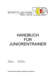 Juniorenhandbuch - SC Cham