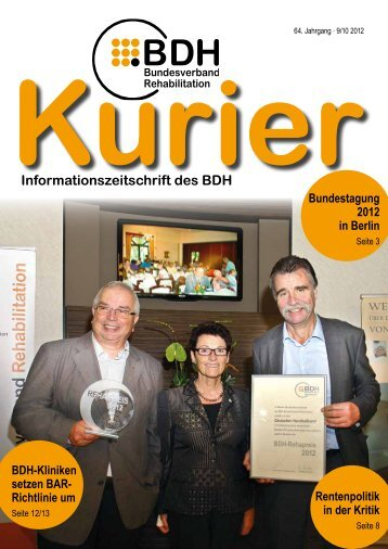 Kurier 9/10 2012 - BDH Bundesverband Rehabilitation