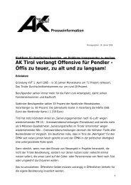 Wir bewegen das Land – - AK - Tirol