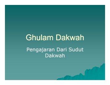 Ghulam Dakwah - Bahan Tarbiyah