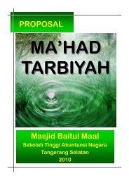 PROPOSAL Masjid Baitul Maal - Ma'had Tarbiyah