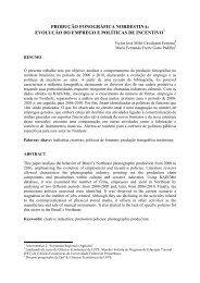 PRODUÇÃO FONOGRÁFICA NORDESTINA: EVOLUÇÃO DO ...