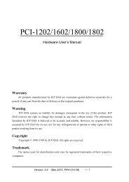 PCI-1202/1602/1800/1802